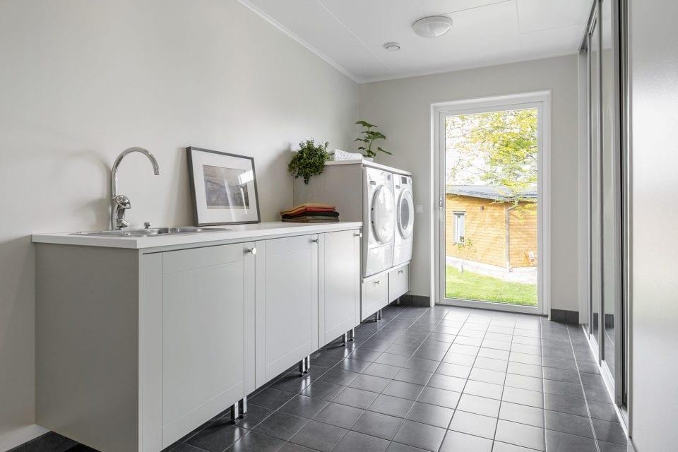 Kundanpassat hus - tvättstuga